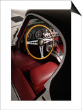 1961 Jaguar E Type Interior Prints by S. Clay