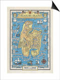 Map of Treasure Island Prints by Monro S. Orr