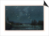 Star-Filled Sky Featuring the Constellation of Orion Posters by W. Kranz