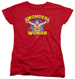 Womens: Wonder Woman - Flying Through T-shirts