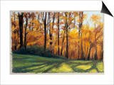 Early Fall Trees Print by Helen J. Vaughn