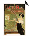 Teatro Regio, Torino: Theatre Royal de Turin Opera House, c.1898 Prints by G. Boano