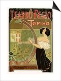 Teatro Regio, Torino: Theatre Royal de Turin Opera House, c.1898 Prints by G. Boano