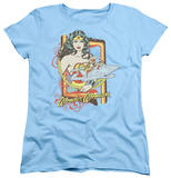 Womens: Wonder Woman - Invisible Jet T-shirts