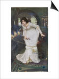 """The Curse is Come Upon Me"" Cried the Lady of Shalott Prints by John William Waterhouse"
