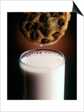 Chocolate Chip Cookie and Milk Posters by John T. Wong