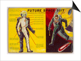 Space Suit as Foreseen in 1939 Prints by Frank R. Paul