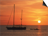 Masted Sailboat at Sunset, Cape Cod, MA Prints by Gary D. Ercole
