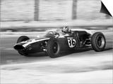 Pilot Driving a Racing Car in a Race Prints by A. Villani