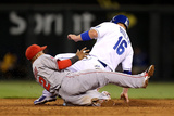 Division Series - Los Angeles Angels of Anaheim v Kansas City Royals - Game Three Photographic Print by Ed Zurga