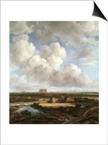 Bleaching Ground in the Countryside Near Haarlem, 1670 Print by Jacob Isaaksz. Or Isaacksz. Van Ruisdael