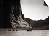 Navajos: Canyon De Chelly, 1904 Art by Edward S. Curtis