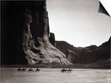 Navajos: Canyon De Chelly, 1904 Art by Edward S. Curtis