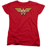 Womens: Wonder Woman - Golden T-Shirt