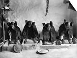 Hopi Grinding Grain, C1906 Prints by Edward S. Curtis