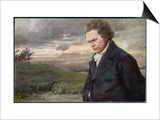 Ludwig Van Beethoven Beethoven out for a Walk on a Windy Day Prints by H. Wulff