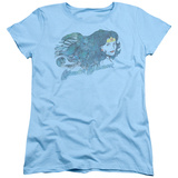 Womens: Wonder Woman - Watercolor Hair T-Shirt