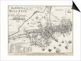 Boston Map, 1722 Posters by George G. Smith