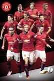 Manchester United Player Collage 14/15 Kunstdruck
