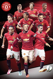 Manchester United Player Collage 14/15 Poster