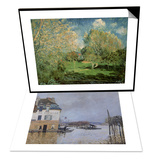 The Flood at Port-Marly, 1876 & The Garden of Hoschede Family, 1881 Set Posters by Alfred Sisley