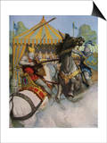 Illustration of Sir Mador Jousting with an Opponent Posters by Newell Convers Wyeth