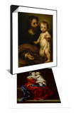 Madonna and Child or Virgin of the Rosary & Saint Joseph with Jesus Set Prints by Bartolome Esteban Murillo
