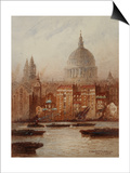 Saint Paul's from Bankside Prints by Frederick E.J. Goff