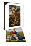 Madonna on the Meadow, 1505 or 1506 & Saint Michael Slaying the Demon, 1518 Set Affiches par  Raphael