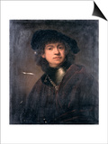 Self Portrait, 17th Century Posters by  Rembrandt van Rijn