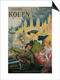 Visitez Rouen, circa 1910 Print by P. Bonnet