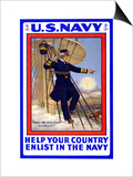 U.S. Navy, Help your Country, c.1917 Poster by H.a. Ogden
