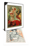 Plate 1 from 'Documents Decoratifs', 1902 & Sarah Bernhardt (1844-1923) Lefevre-Utile, 1903 Set Prints by Alphonse Mucha