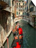 Gondolas along Canal, Venice, Italy Prints by Lisa S. Engelbrecht