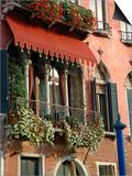 Villa Balcony, Venice, Italy Print by Lisa S. Engelbrecht