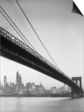 Brooklyn Bridge and Manhattan Skyline Prints by Charles E. Rotkin