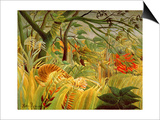 Tiger in a Tropical Storm (Surprised!) 1891 Art by Henri Rousseau