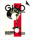 Giso Lamps Poster af Wilhelm H. Gispen