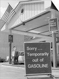 1970s Sorry Temporarily Out of Gasoline Sign During 1973 Opec Oil Shortage Crisis Posters by H. Armstrong Roberts
