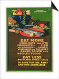 Eat More Corn, Oats and Rye Poster Poster by L.n. Britton