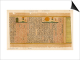An Example of Egyptian Hieroglyphics: The Sun-God in His Bark Posters by E.a. Wallis Budge