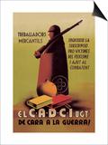 Socialist Trade Union Poster Poster von I. Vicens