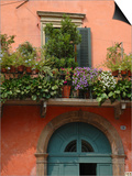 Balcony Garden in Historic Town Center, Verona, Italy Prints by Lisa S. Engelbrecht