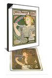 Poster Advertising 'Job' Cigarette Papers, 1896 & Poster Advertising Lance Parfum 'Rodo', 1896 Set Posters by Alphonse Marie Mucha