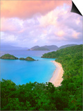 Beach at Trunk Bay Poster by George H.H. Huey