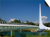 The Sundial Bridge at Turtle Bay, Redding, California, USA Posters by David R. Frazier