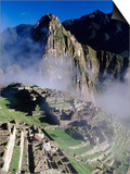 Misty View of Machu Picchu Posters by Mark A. Johnson