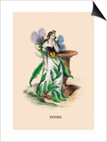 Pensee Prints by J.J. Grandville