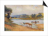 Hawkesbury River New South Wales, The Old Ford Prints by Percy F.s. Spence
