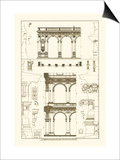 Porch of the Cathedral of Spoleto and Arcade from Palazzo Farnese Posters by J. Buhlmann